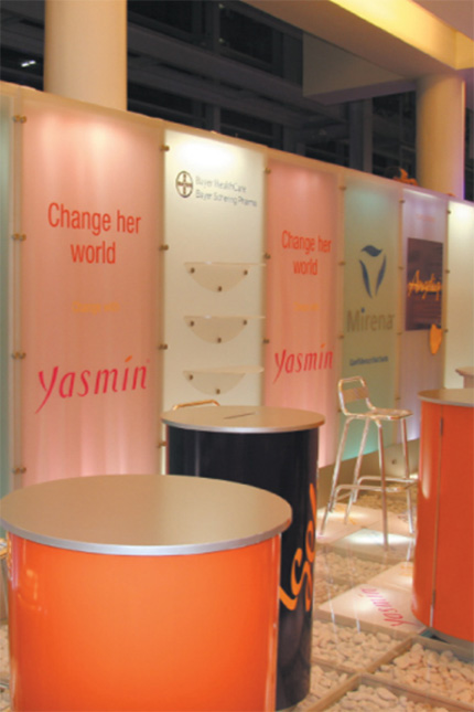 BAYER SCHERING Medical xhibition stand
