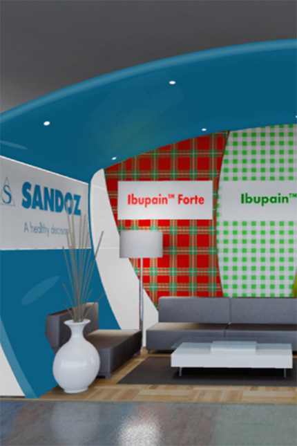 Sandoz Medical Exhibition stand